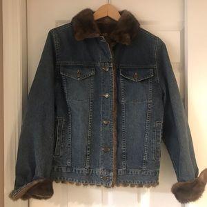 Marvin Richards Mink Lined Jean Jacket S